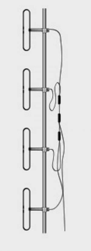 Антенна дипольная Comtech TC330D4-9